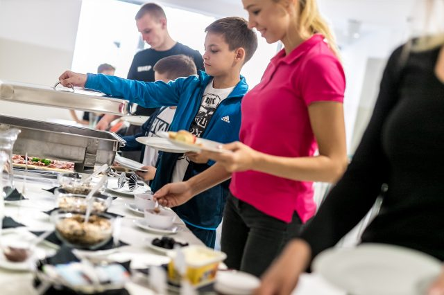 Sokol Centar hrana za sportaše na pripremama