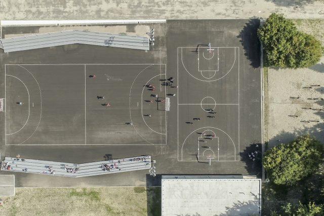 Sokol Centar pogleda iz zraka na igralište