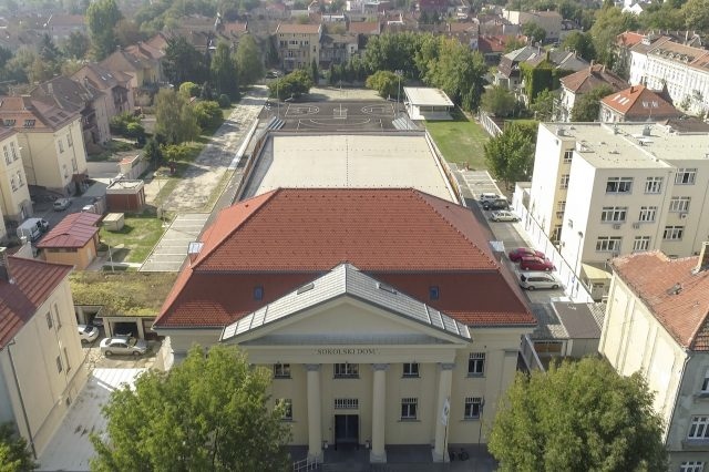 Sokol Centar pogled iz zraka